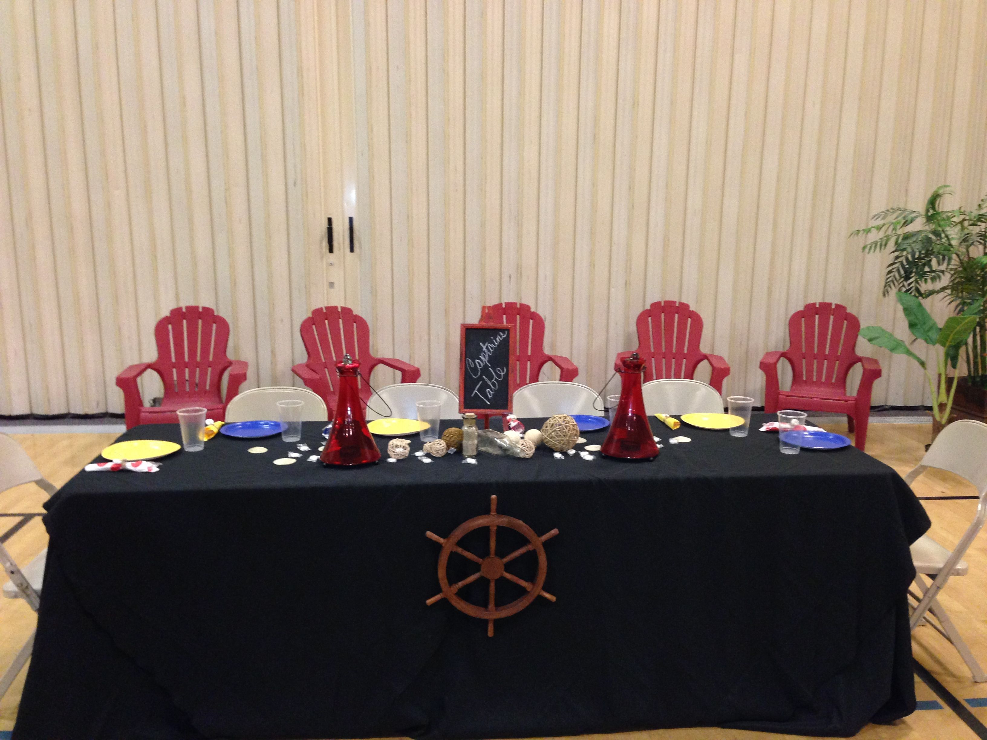 Captains Table For Nautical Themed Dinnerdance