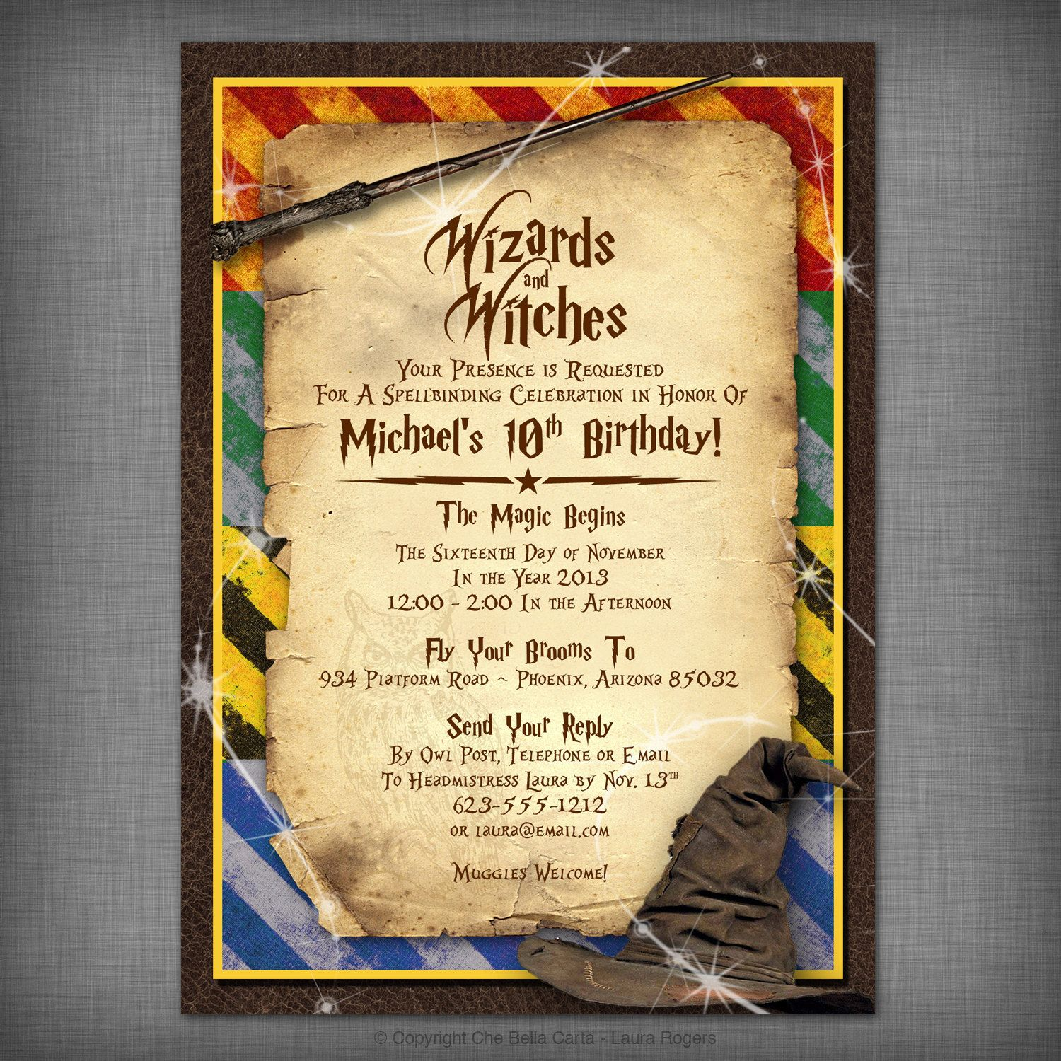 Harry Potter Inspired Witches & Wizards Printable Invitation ...
