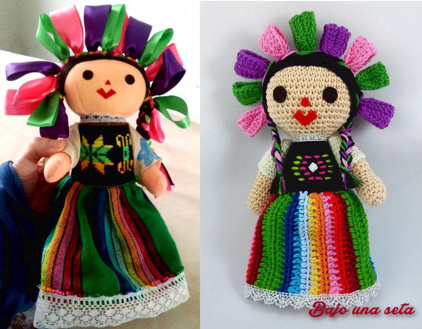 muñeca mexicana maría historia y muñeca de ganchillo crochet ...