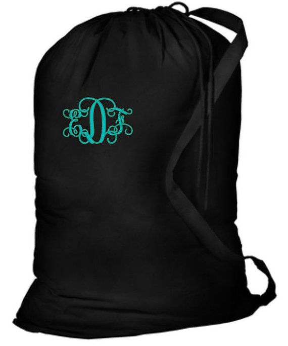 Laundry Bag Monogrammed, Camp Laundry Bags, Personalized Laundry, Monogram Laundry Bag, College Gift, Graduation Gifts, Summer Camp Bag