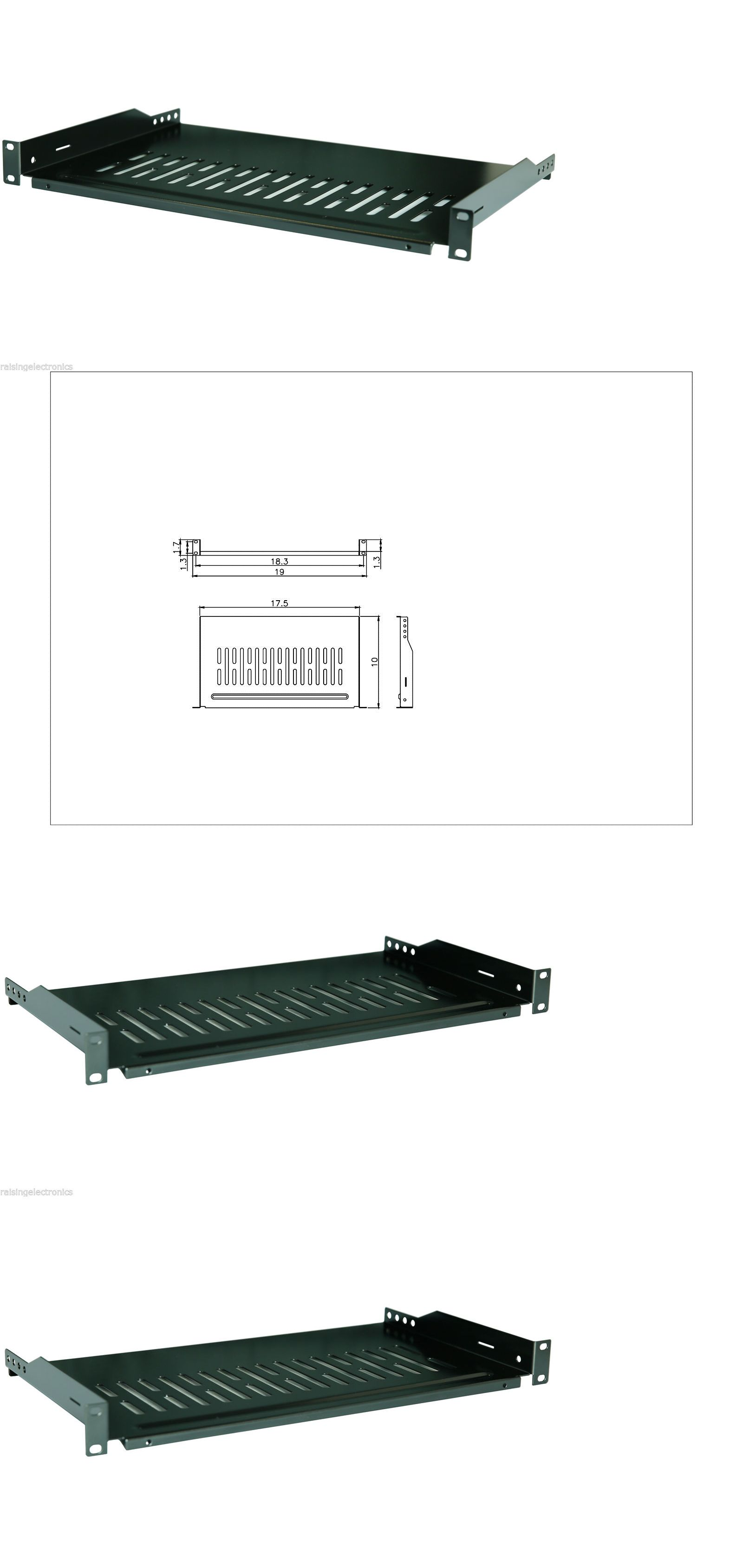 2 Pack Cantilever Server Shelf Vented Shelves Rack Mount 19 1u 10 250mm Deep Wall Mount Rack Open Frame Server Rack