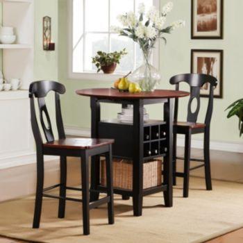 Homevance 3Pcricardo Bistro Set Brown  Bistro Set Room Ideas Interesting 3 Piece Kitchen Table Set Design Inspiration