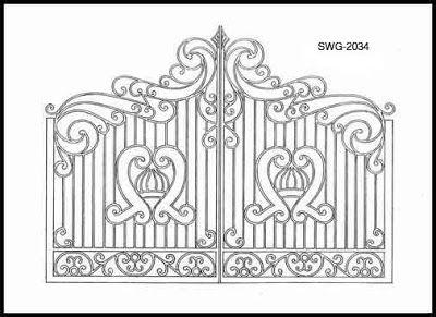 Iron Gate Design Ideas | Kertészkedés | Pinterest | Gate design ...