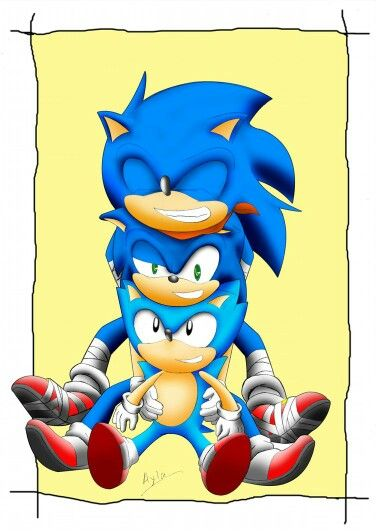 Sonic Boom Modern Sonic And Classic Sonic Modern Sonic Looks Drunks X D Sonic The Hedgehog Classic Sonic Sonic