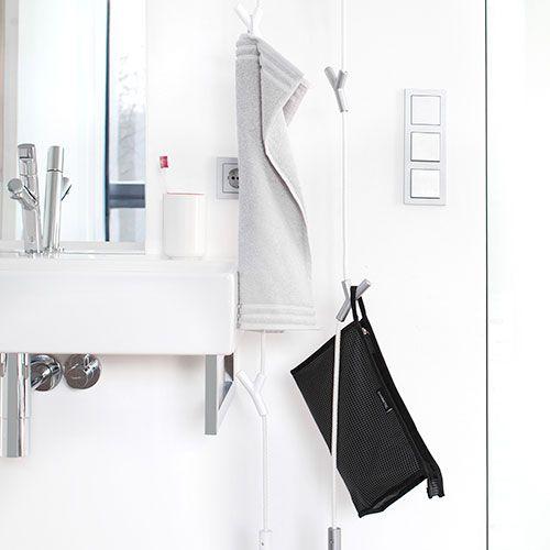 Colgador cuerda de arcon utilizado para colgar enseres de for Colgador toalla bano