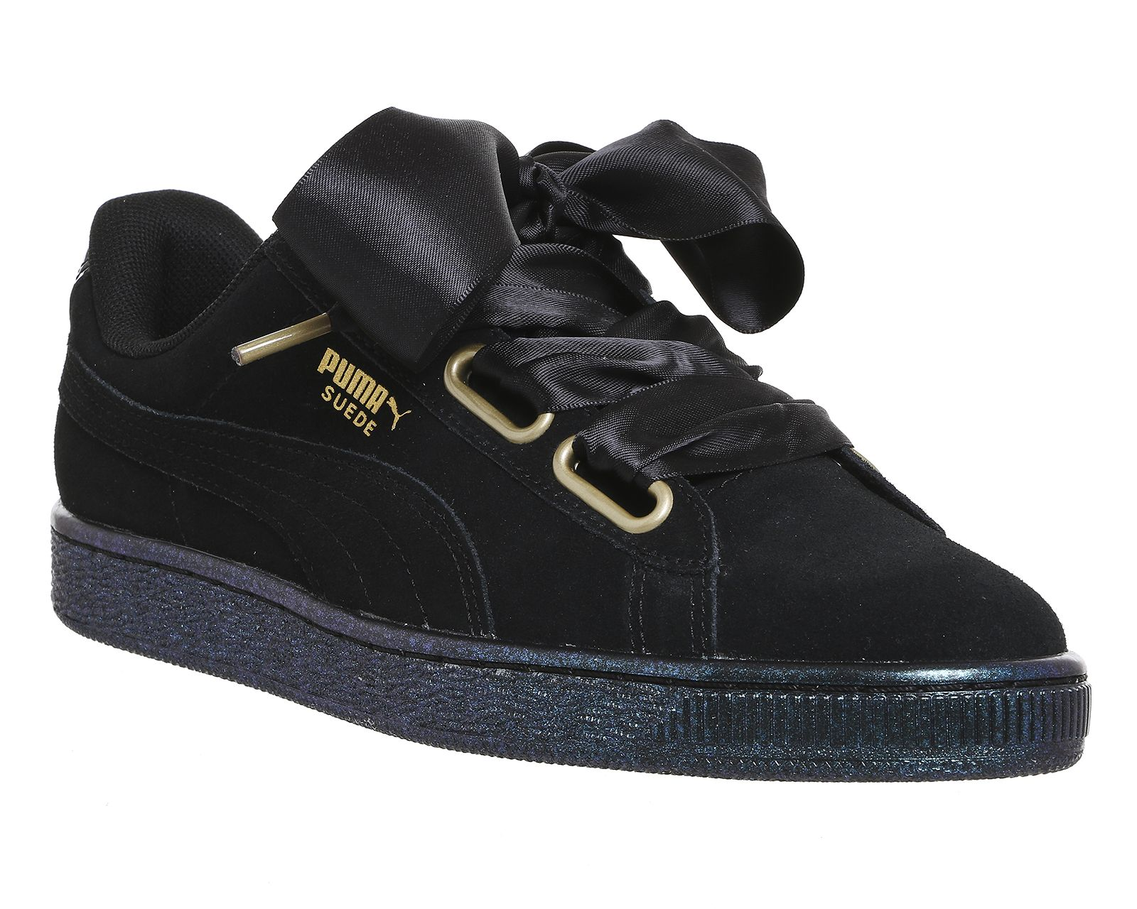 half off 8d2f9 4aa72 Puma Suede Heart Puma Black Satin | Must have❤️ | Puma ...