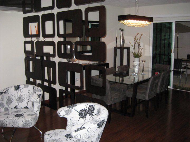 Decoraci n minimalista y contempor nea biombos colgantes for Ambientes minimalistas interiores