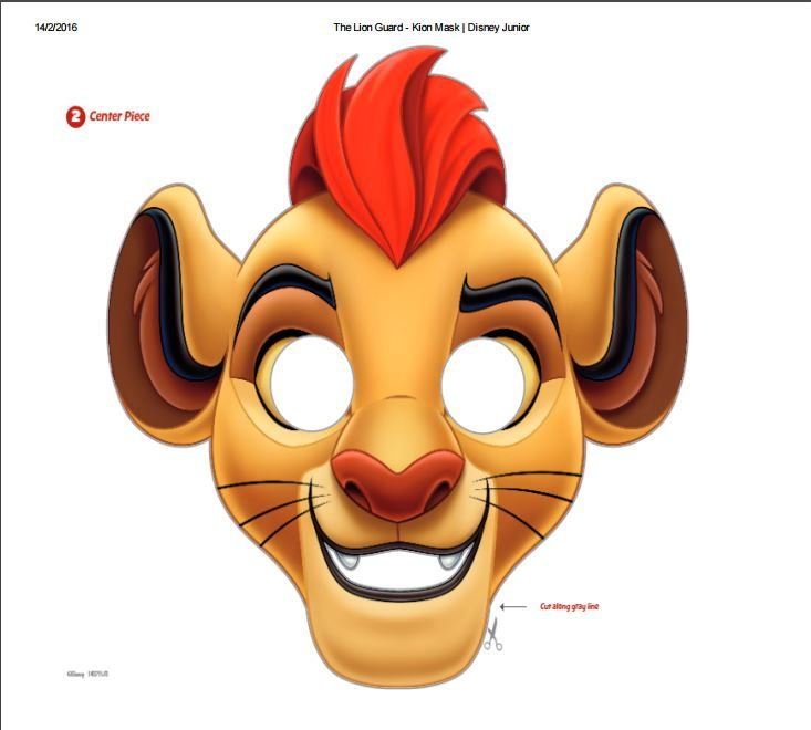 The Lion Guard Kion Printable Mask From Disney Junior Perfect For Your Kids Birthday