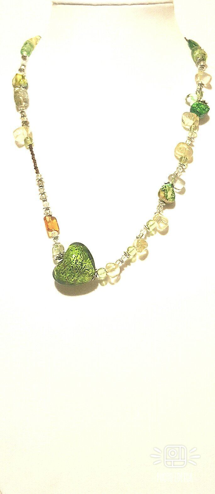 Handmade glass heart pendant necklace set pendants and products
