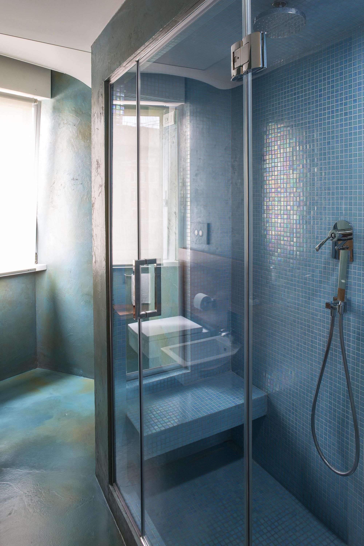 Box Doccia Con Sedile In Muratura.Azure Mosaic Bathroom Bathroom Inspiration Mosaic Bathroom Home