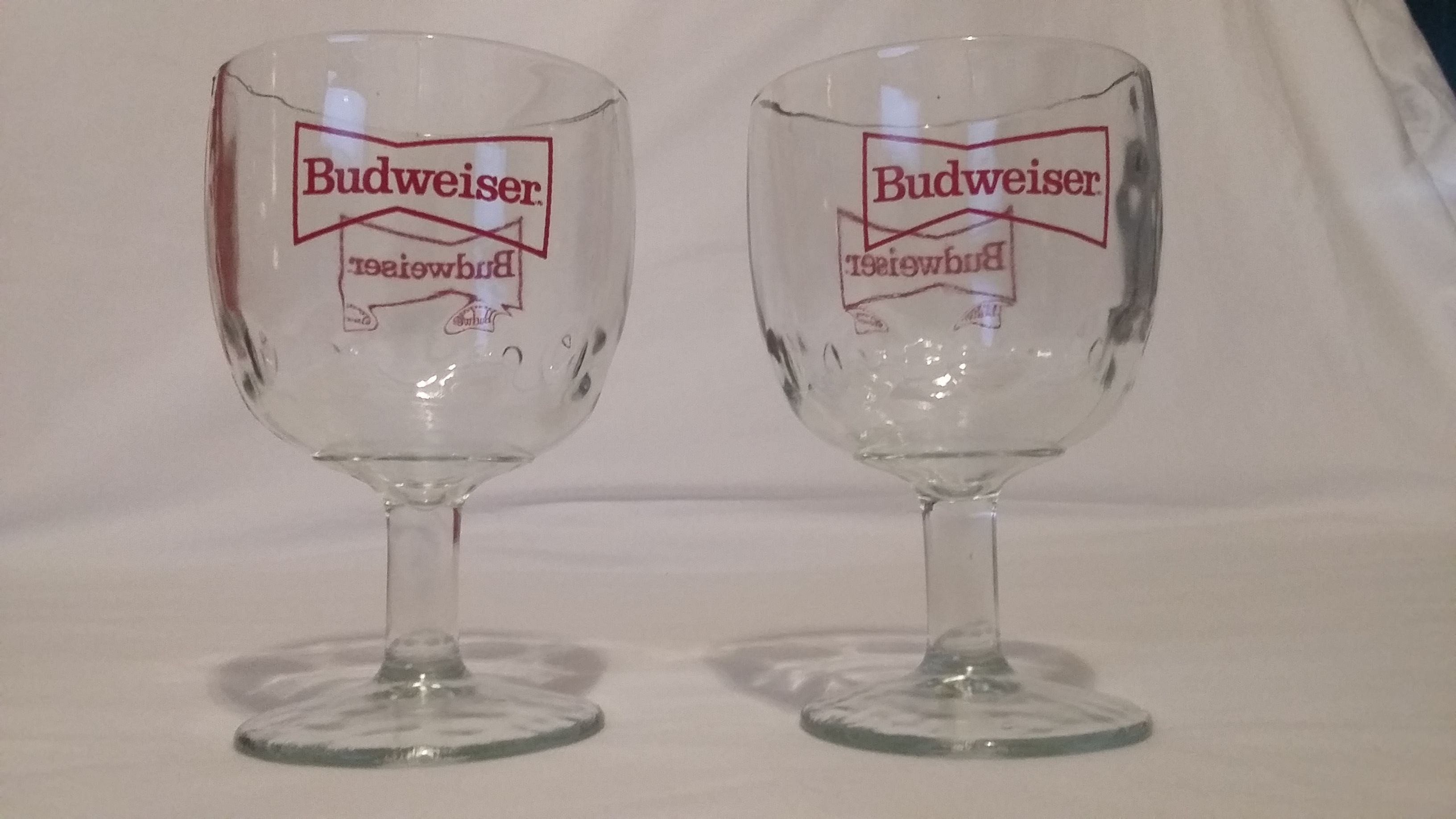 Budweiser Beer Glasses Budweiser Old School Budweiser retro Budweiser collectible Budweiser stuff