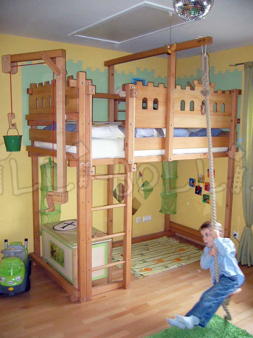 Loft Bed Adjustable By Age Bett Kinderzimmer Kinder Bett
