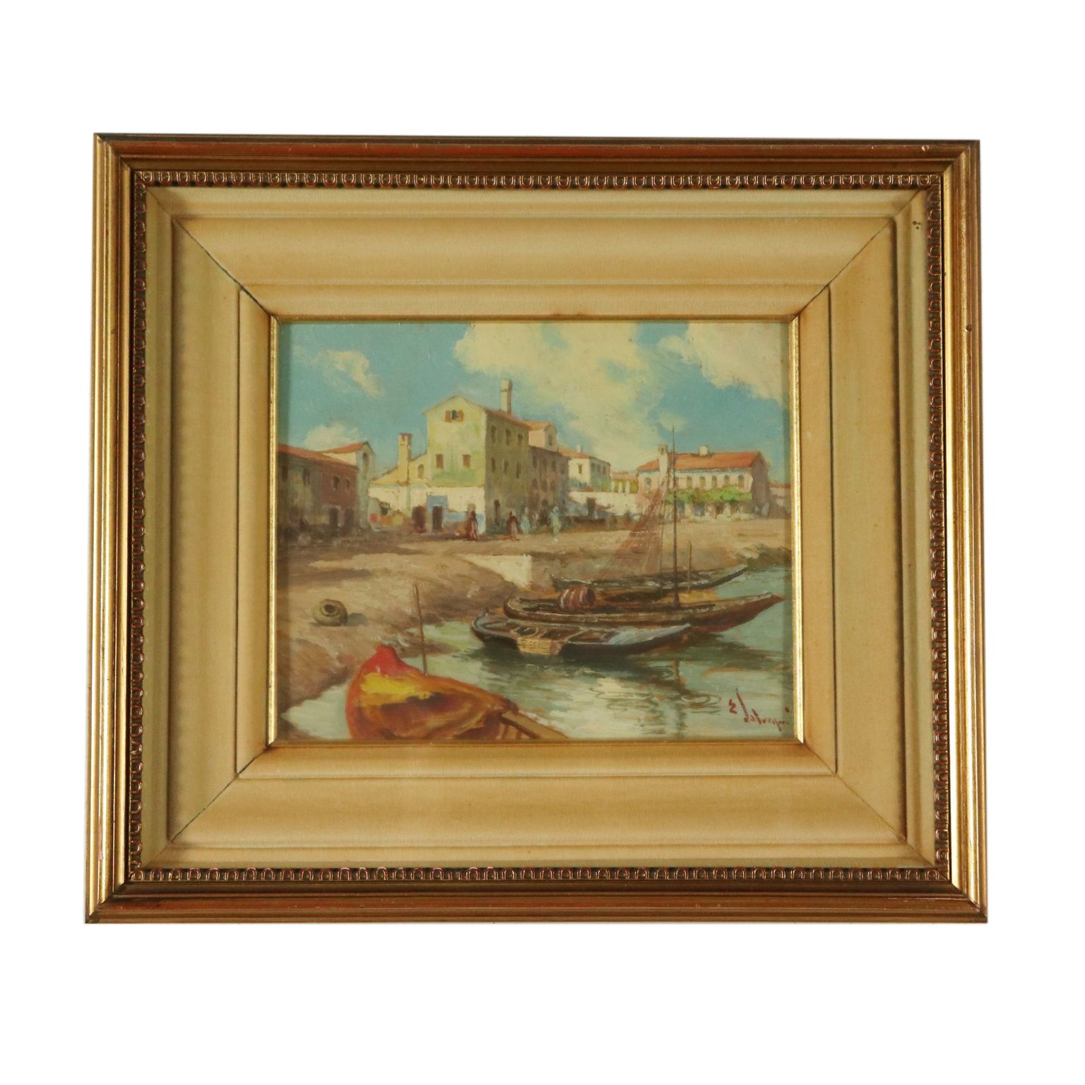 Photo of View of Venice from Ettore Solvenghi 19th century painting