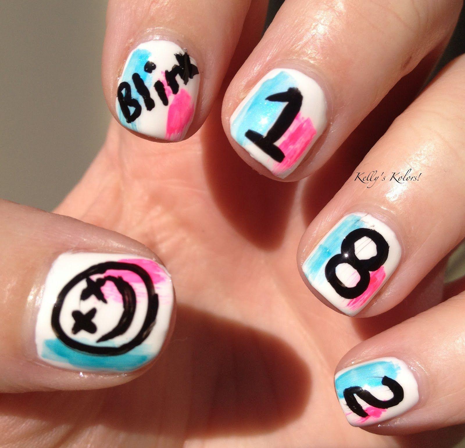 Blink-182 Nail Art, true fan would do this | Hair & Beauty ...