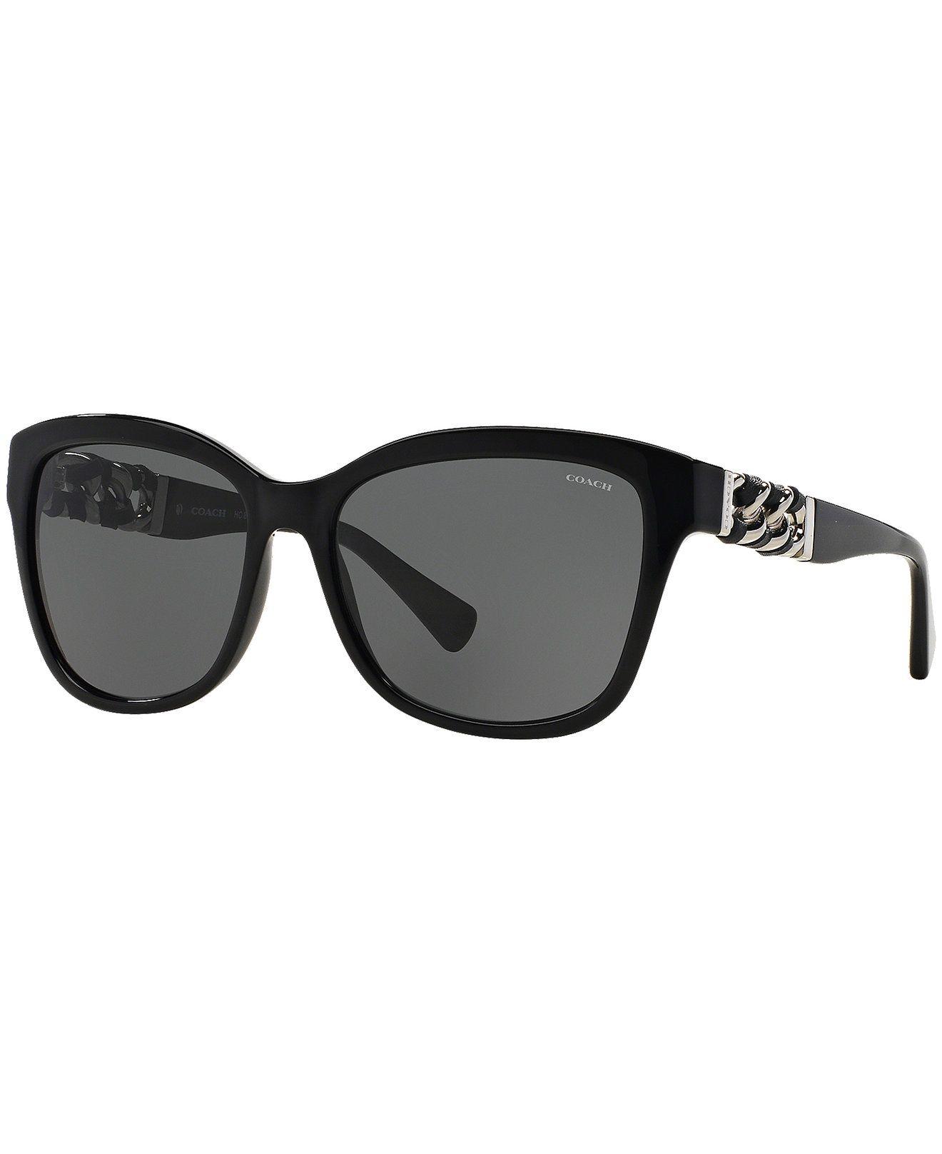 9d8a07048cea Coach Sunglasses, COACH HC8156Q 56 L131 - Sunglasses for Round Faces -  Handbags & Accessories - Macy's