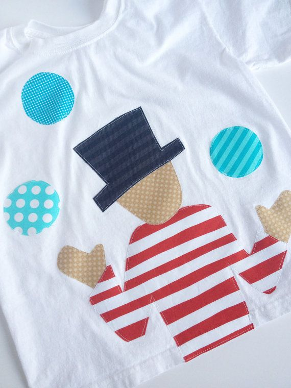 Circus Juggler Shirt Circus Birthday Shirt by kakabaka on Etsy, $25.00