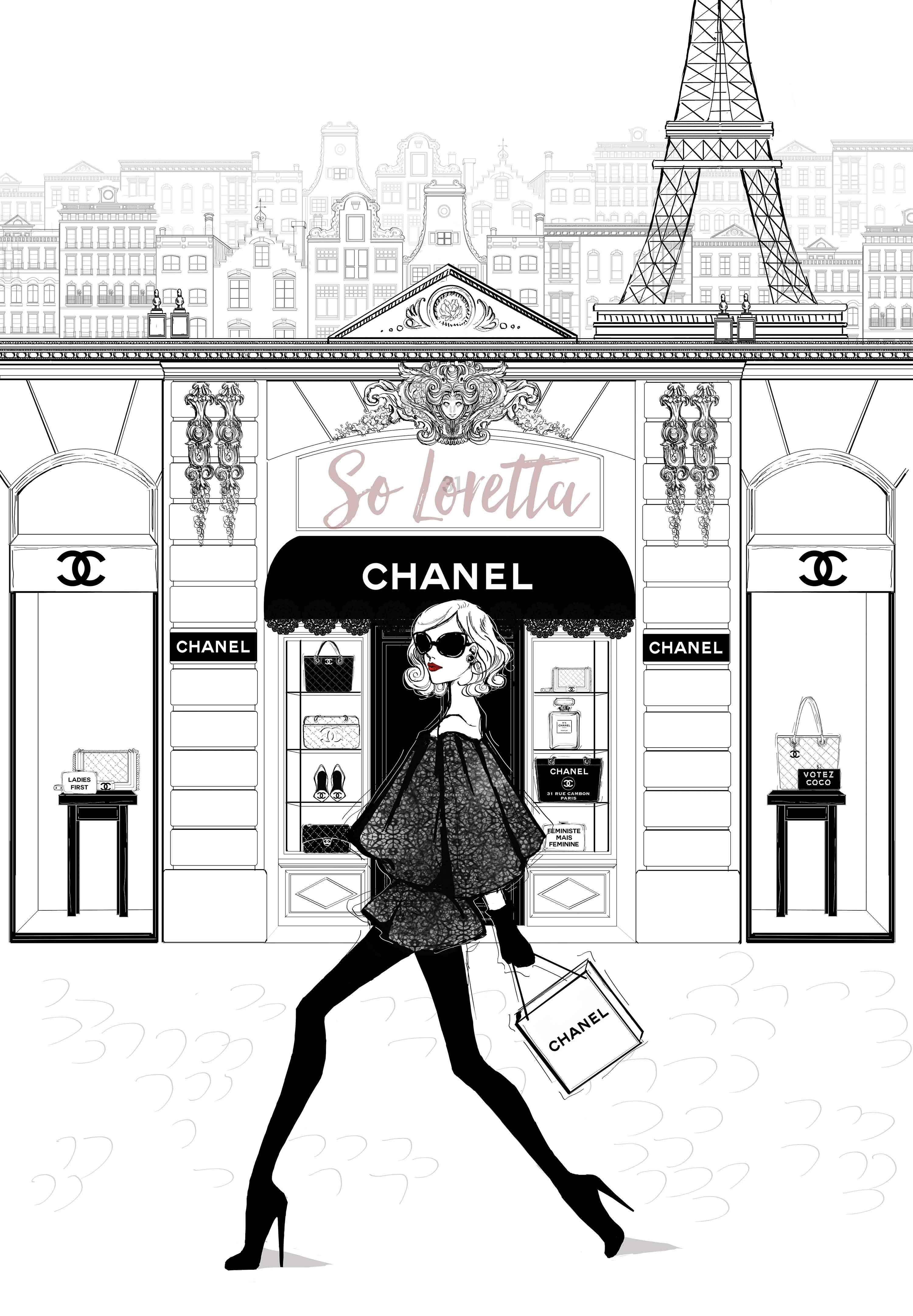 d46f83b9b703 ♛BOUTIQUE CHIC♛ Megan Hess Illustration, Paris Illustration, Fashion Illustration  Chanel, Fashion