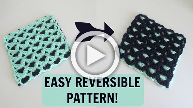 Here Is A Video About A Reversible Crochet Patternear And Easy