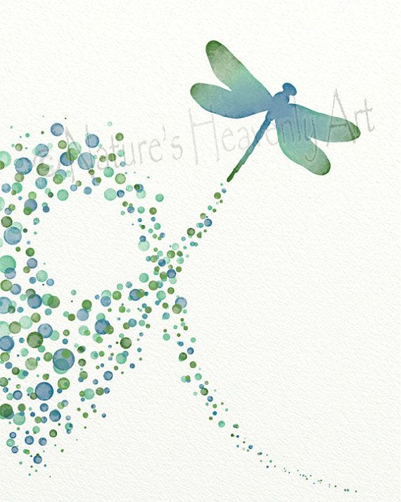 Blue Green Wall Art Dragonfly Decor, Dragonfly for Wall, Dragonfly ...