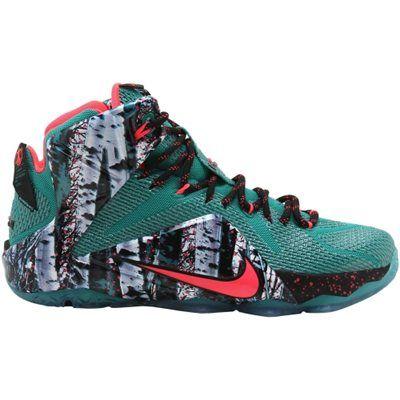 "09ea36117c0a Nike LeBron XII ""Akron Birch"" Basketball Shoe – Emerald Green Dark  Emerald Hyper Punch"