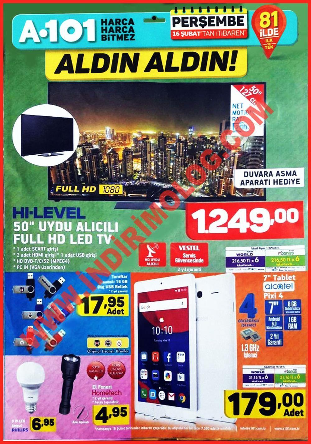 A101 16 Ağustos Kataloğu