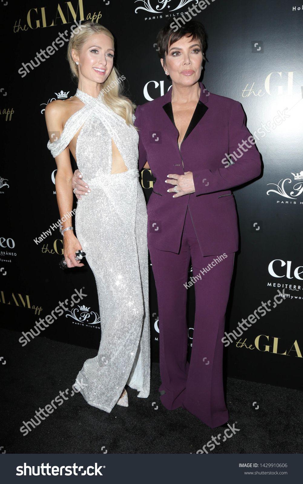Los Angeles Jun 19 Paris Hilton Kris Jenner At The The Glam App Celebration Event At The Cleo On June 19 2019 I In 2020 Formal Dresses Long Formal Dresses Fashion