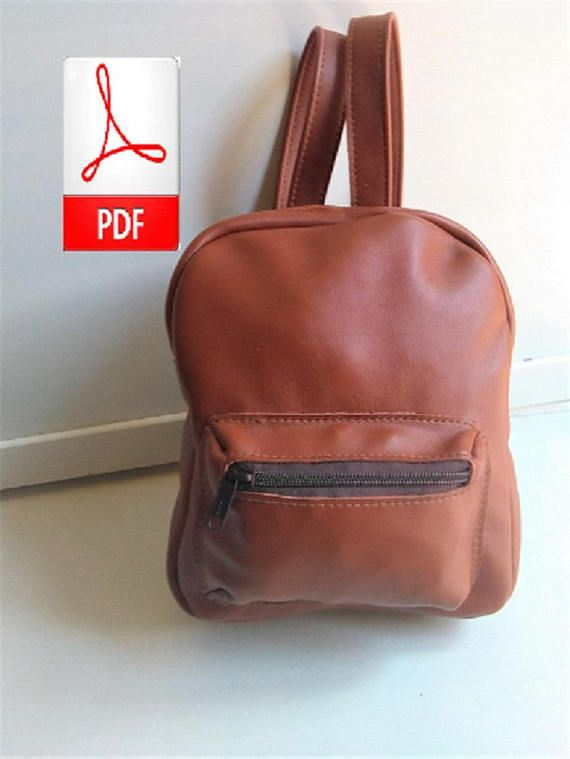 758a787c3 Leather Backpack - Leather PDF Patterns to Make this Small Leather ...