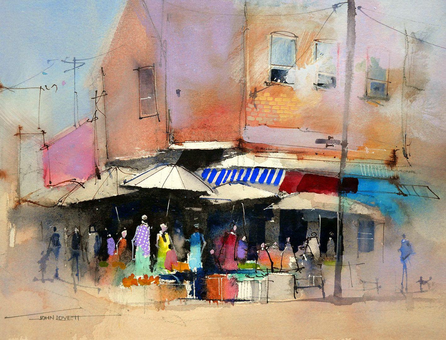 Watecolor Edges John Lovett Artist John Lovett Painting