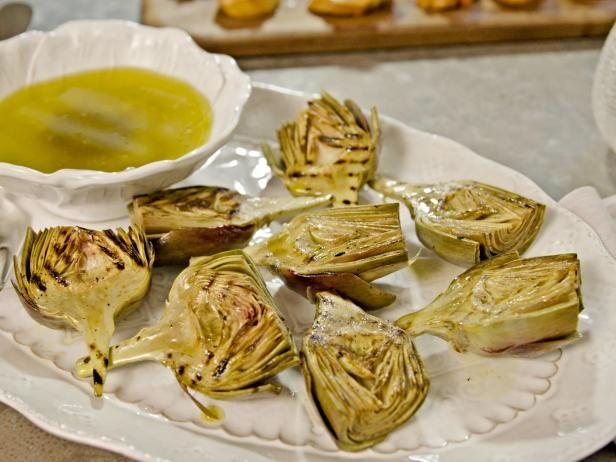 Grilled artichokes with bagna cauda recipe artichokes