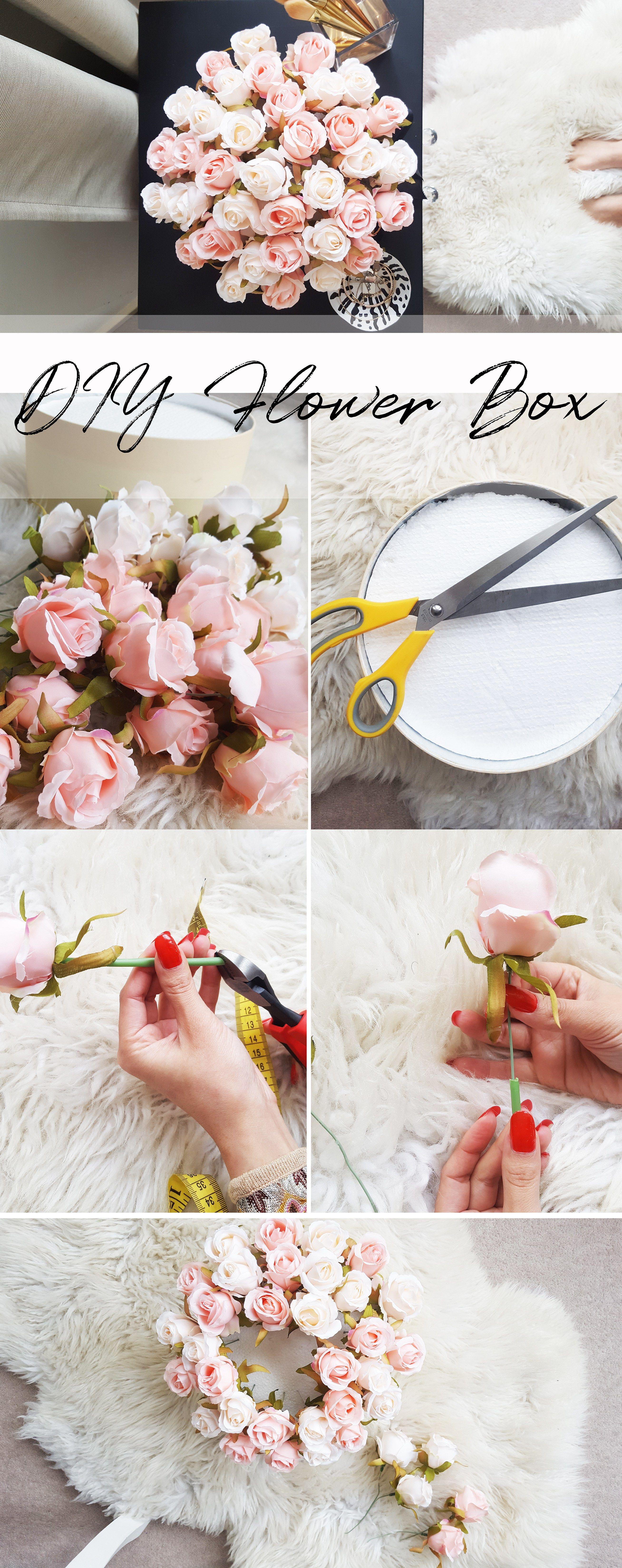 DIY Flower Box Flower box gift, Diy flower boxes, Diy roses