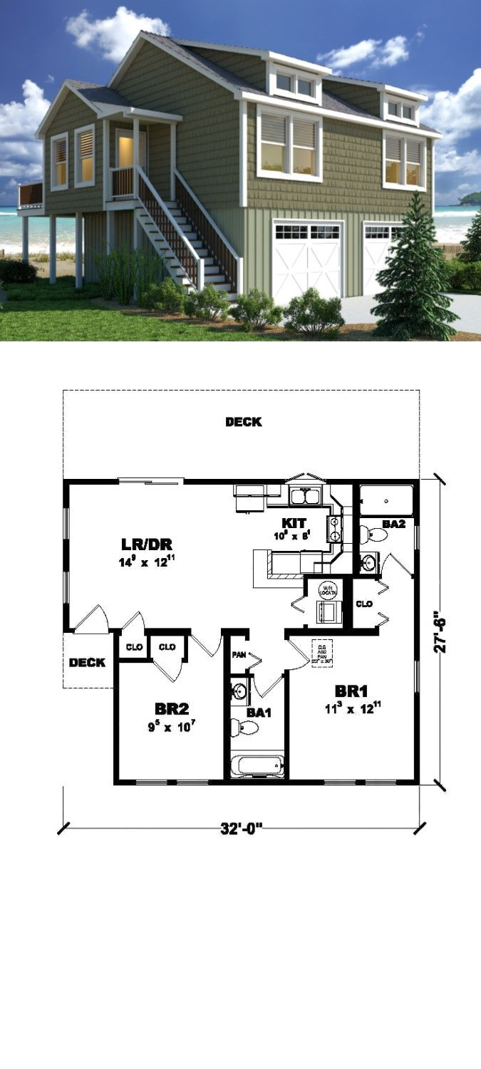 The Beach Bungalow 818 Sq Ft 2 Bedrooms 2 Baths Part Of Excel Custom Modular Homes New Coast Modular Homes Custom Modular Homes Interior Architecture Design