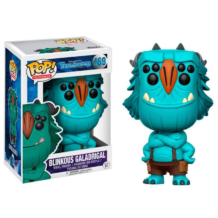 FUNKO POP TrollHunters Jim With Red Armor 2017 NYCC #466 Exclusive Vinyl Figure