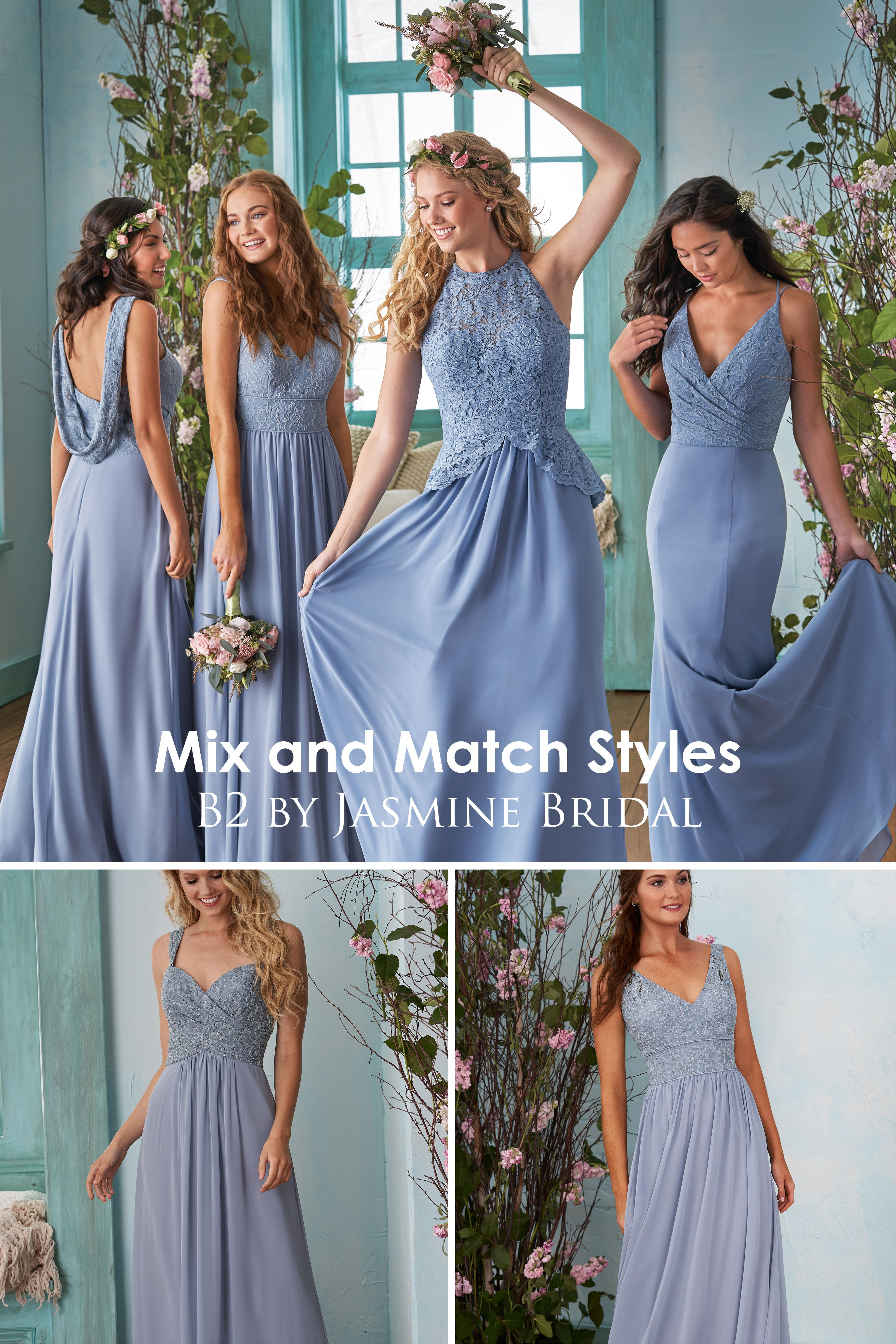 Jasmine Bridal - B2 Mix and Match Styles | Bridesmaid Dresses | Lace ...
