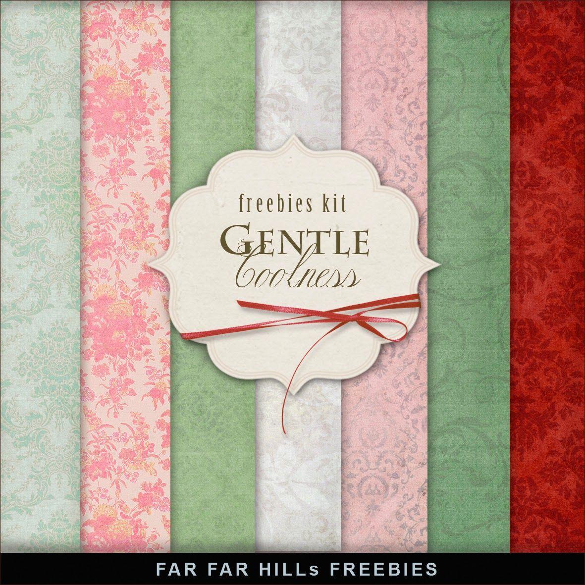 FREE Freebies Kit of Backgrounds - Gentle Coolness ByFar Far Hill