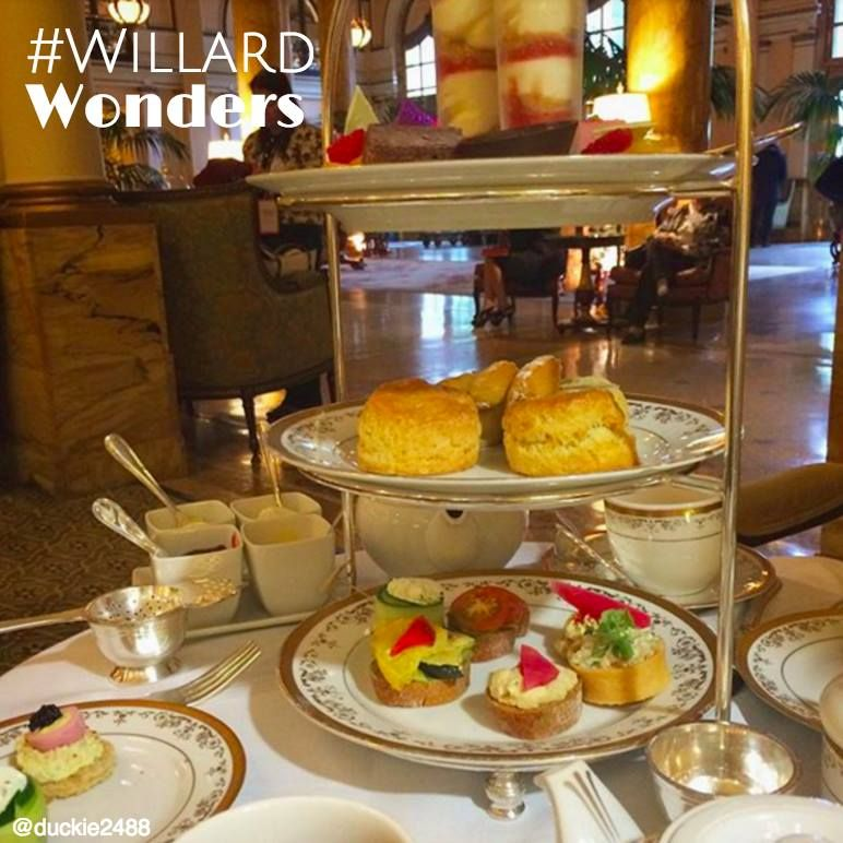 For a quintessential Willard experience, don't miss out on Afternoon Tea in Peacock Alley. This enchanting tradition features live harp music, an array of organic teas, finger sandwiches and decadent pastries. Join us Friday - Sunday from 1-4:30 pm.   #WillardWonders