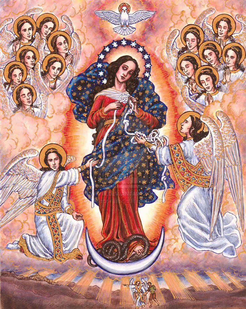 Our Lady Undoer Of Knots By Theophilia On Deviantart