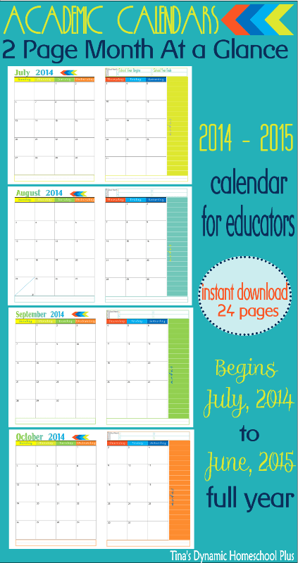 Curriculum Planner   Pages Per Month At A Glance Academic