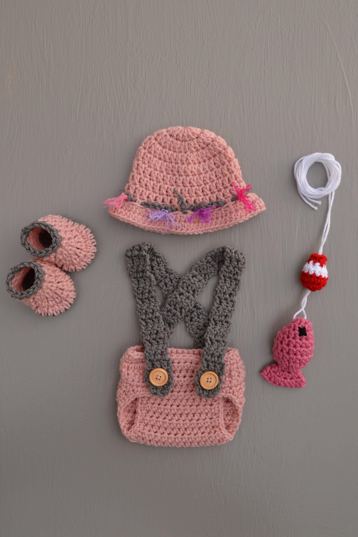 Photo of Newborn Girl Fishing Outfit Baby Girl Fishing Baby Fishing Outfit Fishing Baby Clothes Baby Girl Baby Fishing Hat Pink Baby Fishing Outfit
