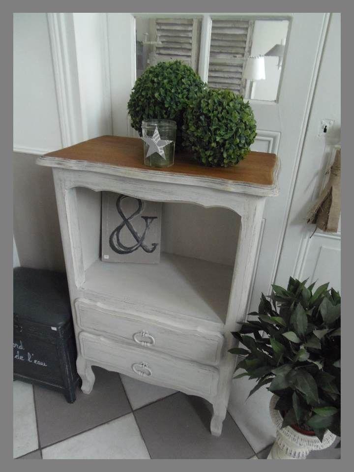 meuble chiffonnier commode ch ne patin gris perle plateau ch ne prot g de 3 couches de. Black Bedroom Furniture Sets. Home Design Ideas