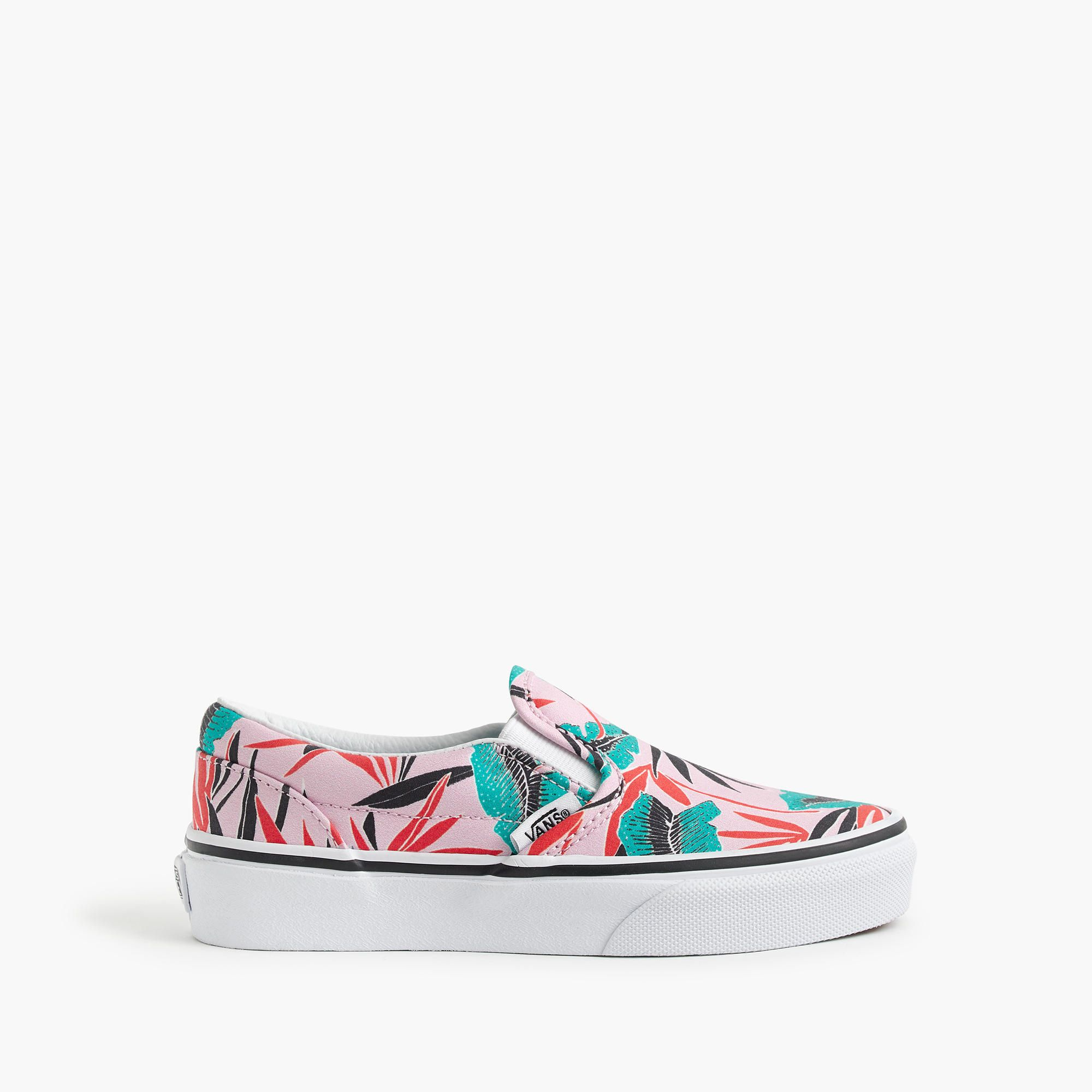 caf3a008d79cf2 Kids  Vans® classic slip-on sneakers in tropical palm print   Girl sneakers