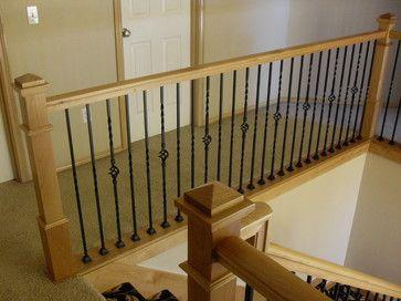 Best 2Plain 1 2 Plain 1 Pattern Alder Handrail Stair Posts 640 x 480