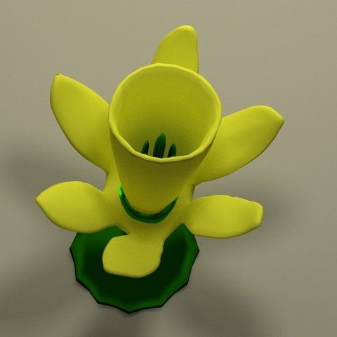 Download on https://cults3d.com #3dprinting petite jonquille STL model, jean-fabric