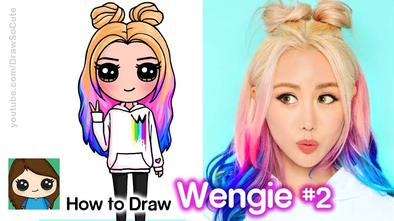 How To Draw Wengie Famous Youtuber New Cute Easy Drawings
