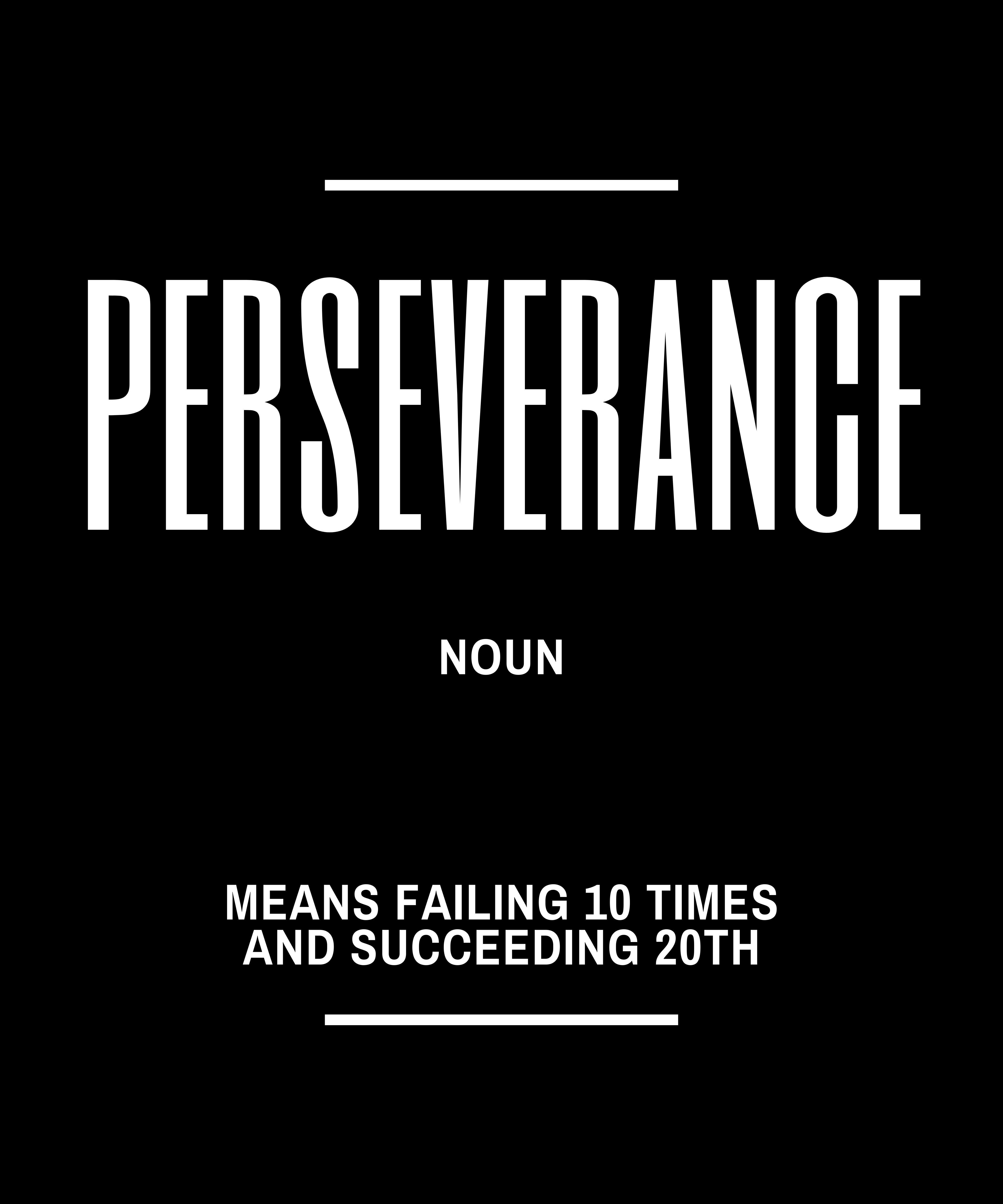 Perseverance Definition Quote Faux Canvas Print Zazzle Com Successful Life Quotes Definition Quotes Hard Work Quotes