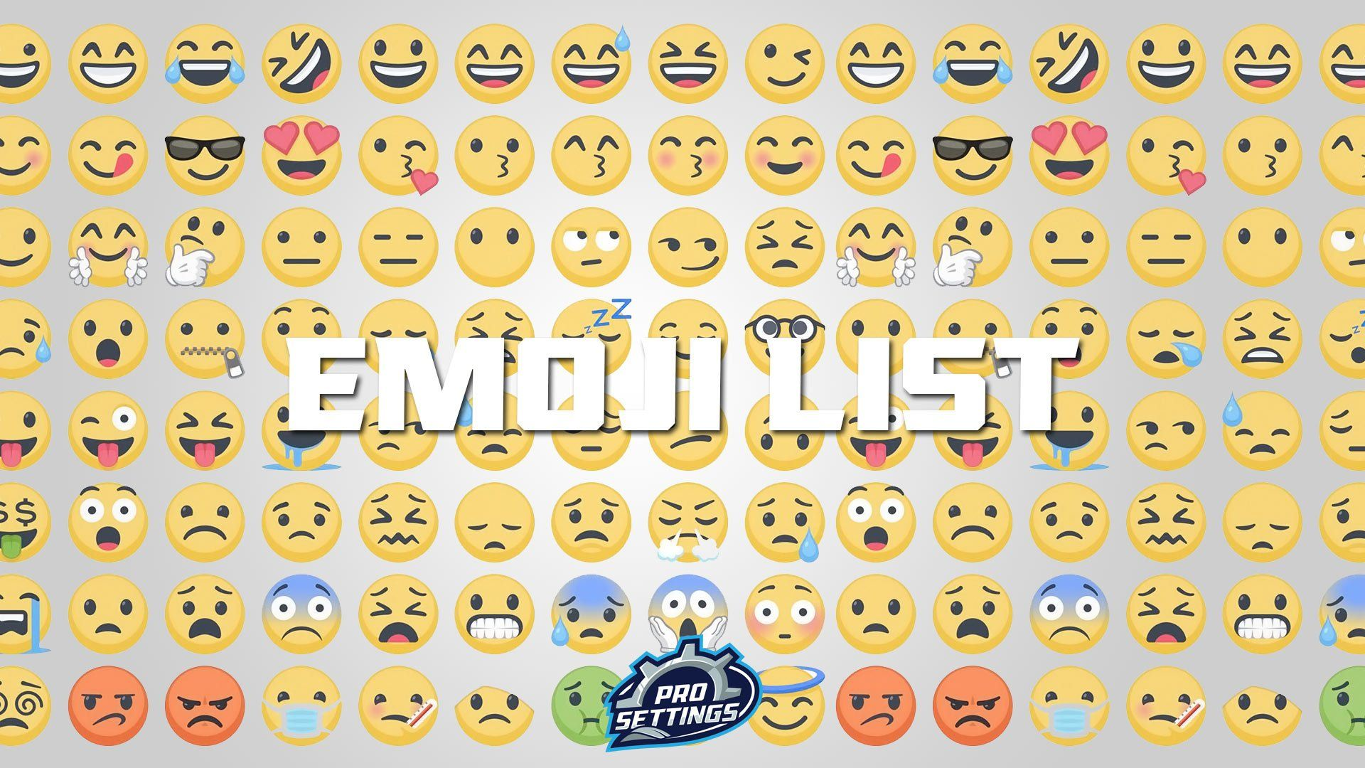 Full List Of Emojis 2020 Prosettings Com Emoji List Emoji Symbols Emoji