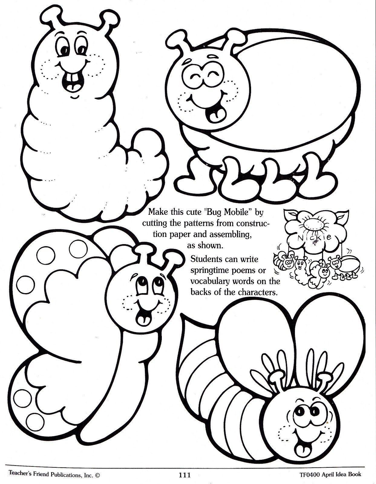 Cute Bug Coloring Pages Cute Bug Coloring Pages At