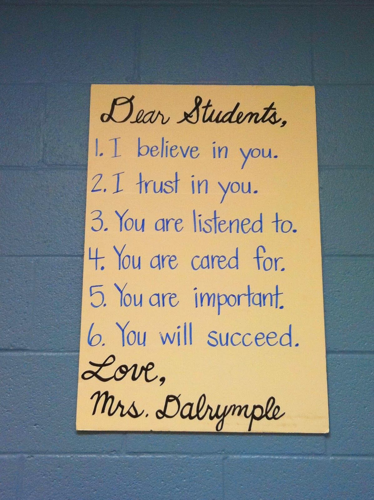 I would love to have this in my classroom
