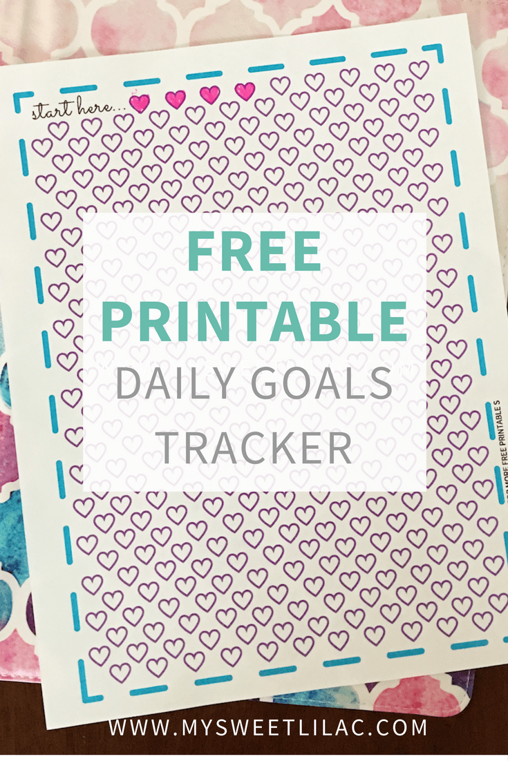 free printable daily goals tracker