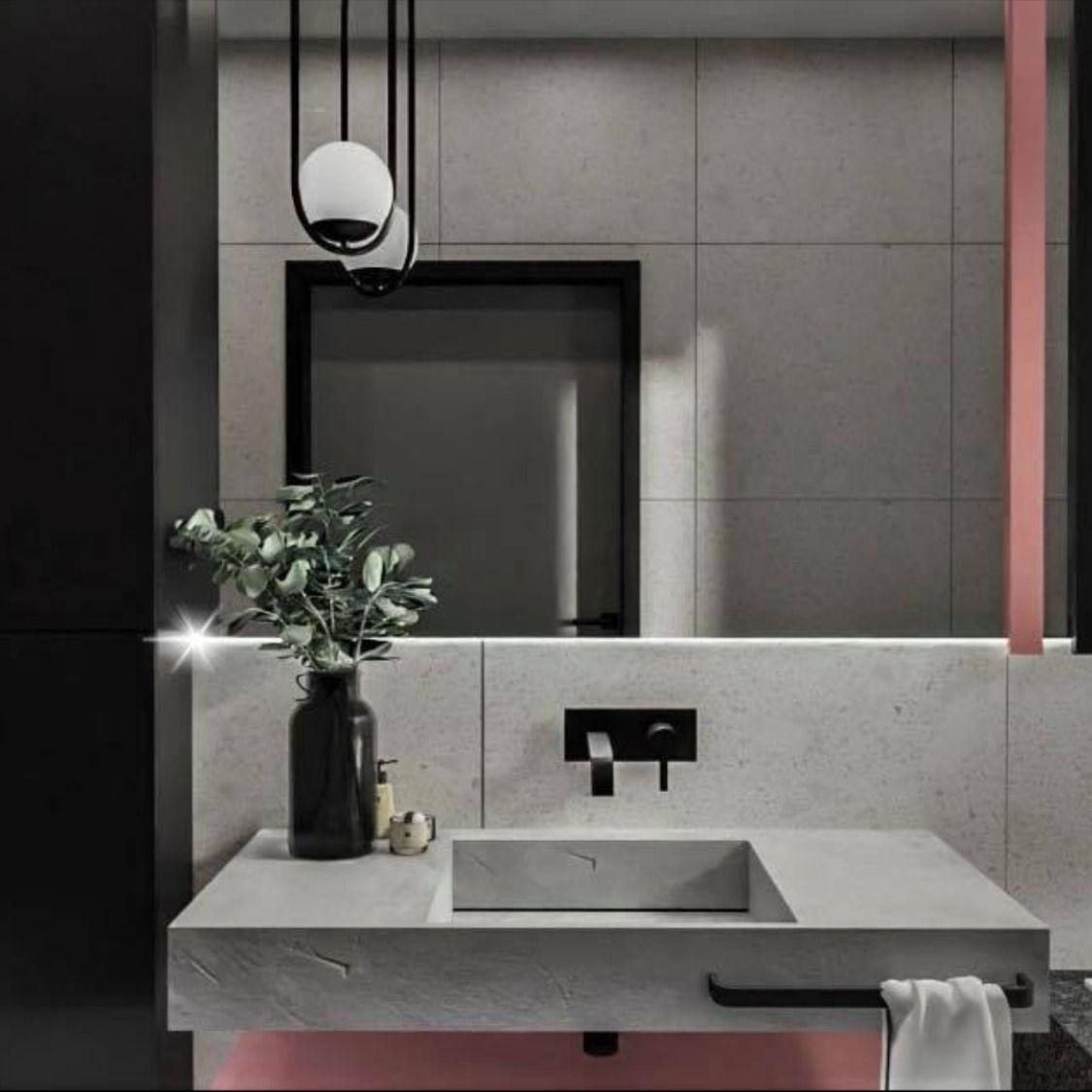 łazienka z elementami różu