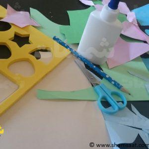 نشاط قص ولصق وتكوين اشكال نشاطات تعلم الاشكال للاطفال شمسات Wind Sock Decor Outdoor Decor